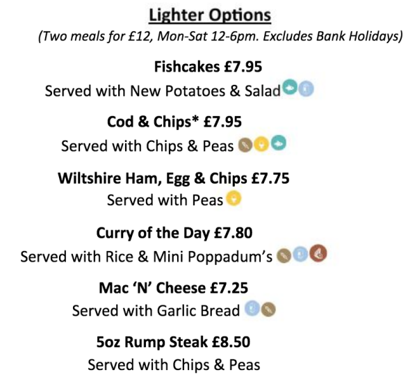Menu deals, summer, Cheltenham