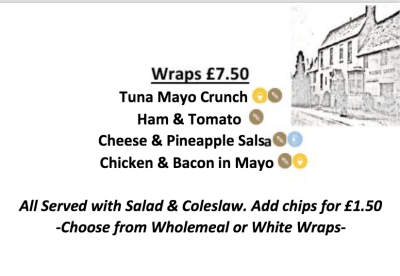 Menu, Wraps, summer, Cheltenham